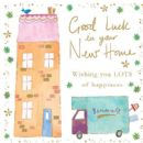 "NEW HOME CARD ""GOOD LUCK DESIGN"" SQUARE SIZE 4.75 X 4.75 INCH EFH001"